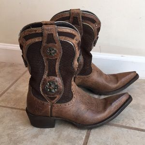 Ariat brown leather cowgirl cross boots 7 B